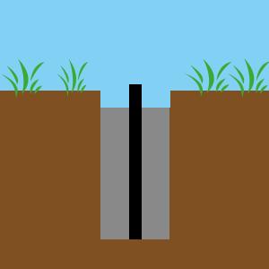 Skizze: Bodenhülse einbetonieren