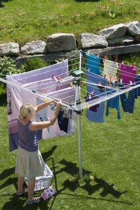 Wäsche trocknen im Freien